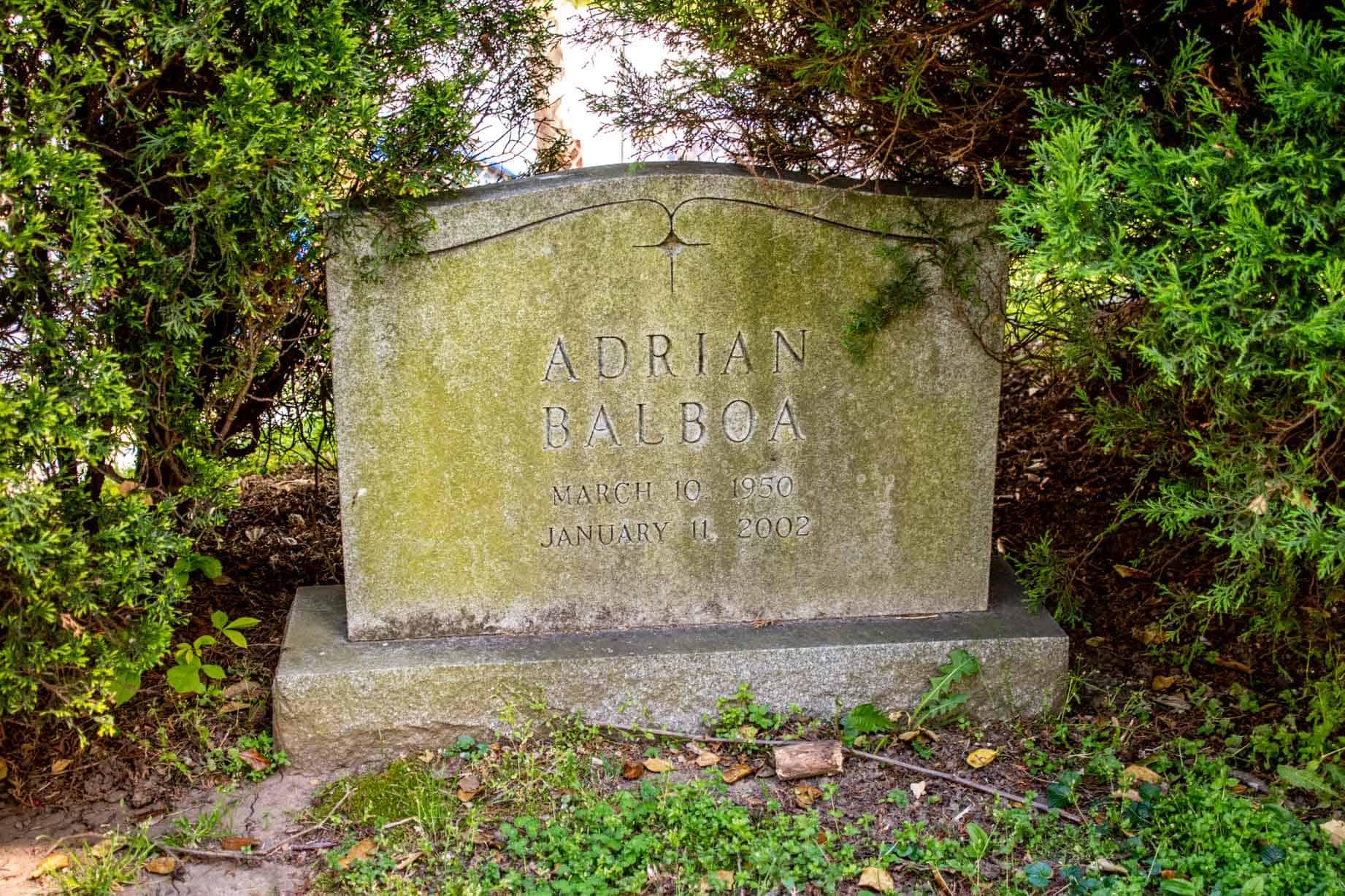 Headstone for Adrian Balboa
