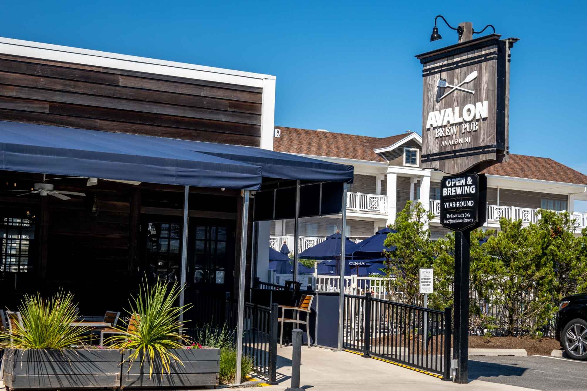 Exterior of Avalon Brew Pub