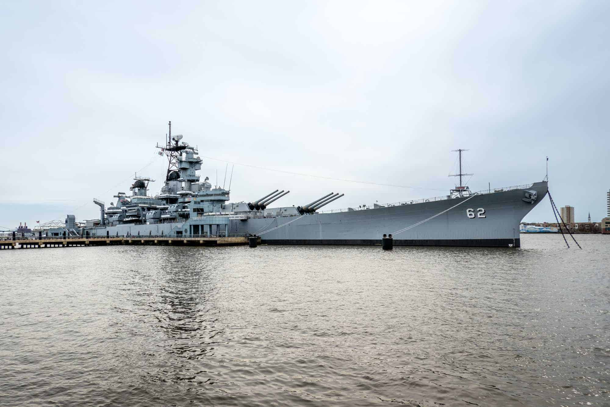 Battleship in the river
