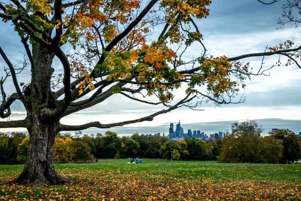 The Belmont Plateau in Philadelphia, Pennsylvania