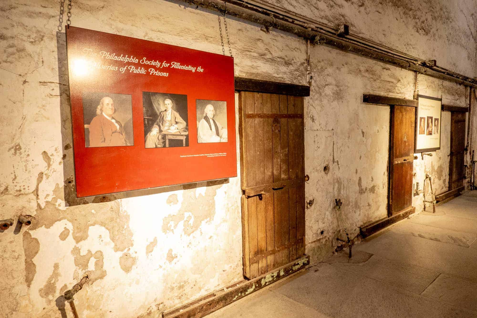 Information panel about Benjamin Franklin and prison reform