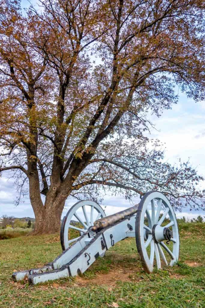 A wheeled cannon in Valley Forge
