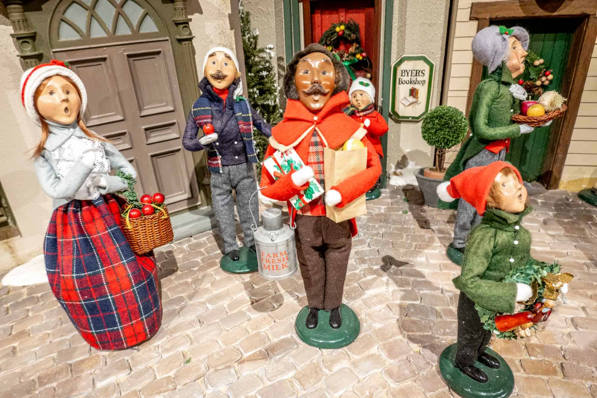 Group of Byers' Choice Christmas Carolers