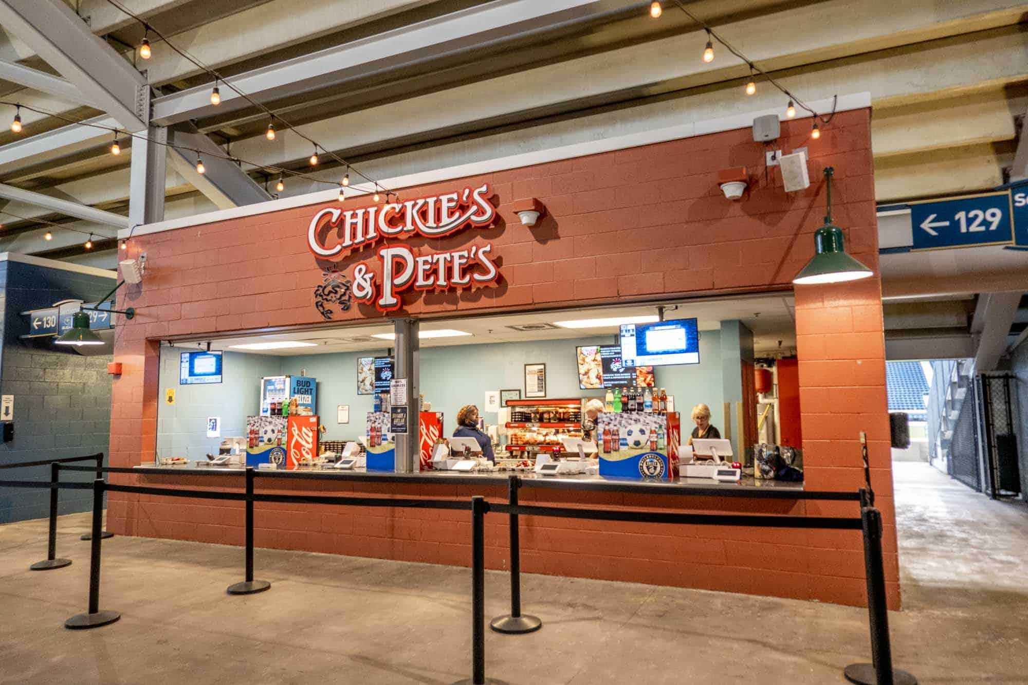 Stall from Chickie's & Pete's