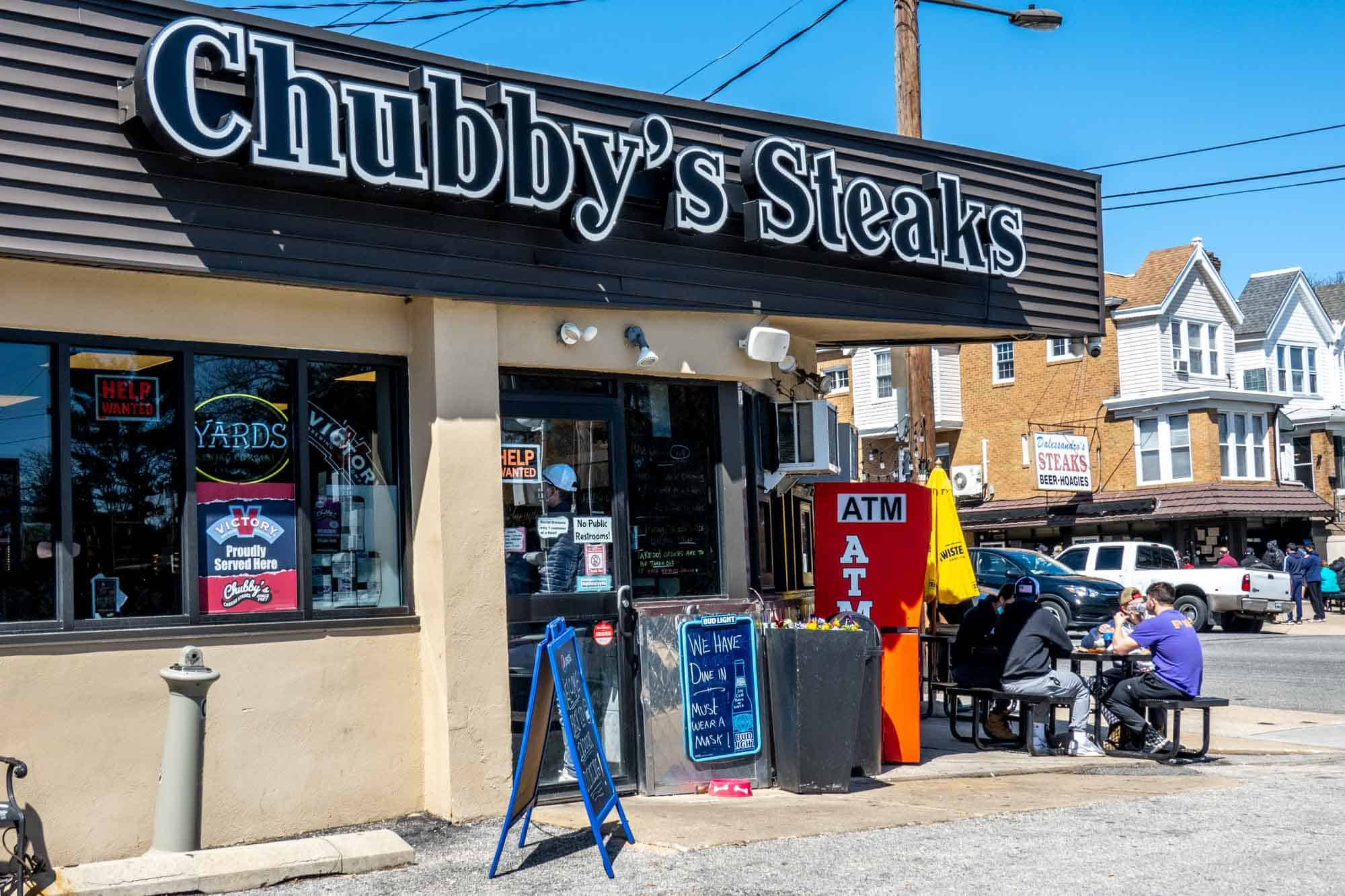 Exterior of Chubby's Steaks
