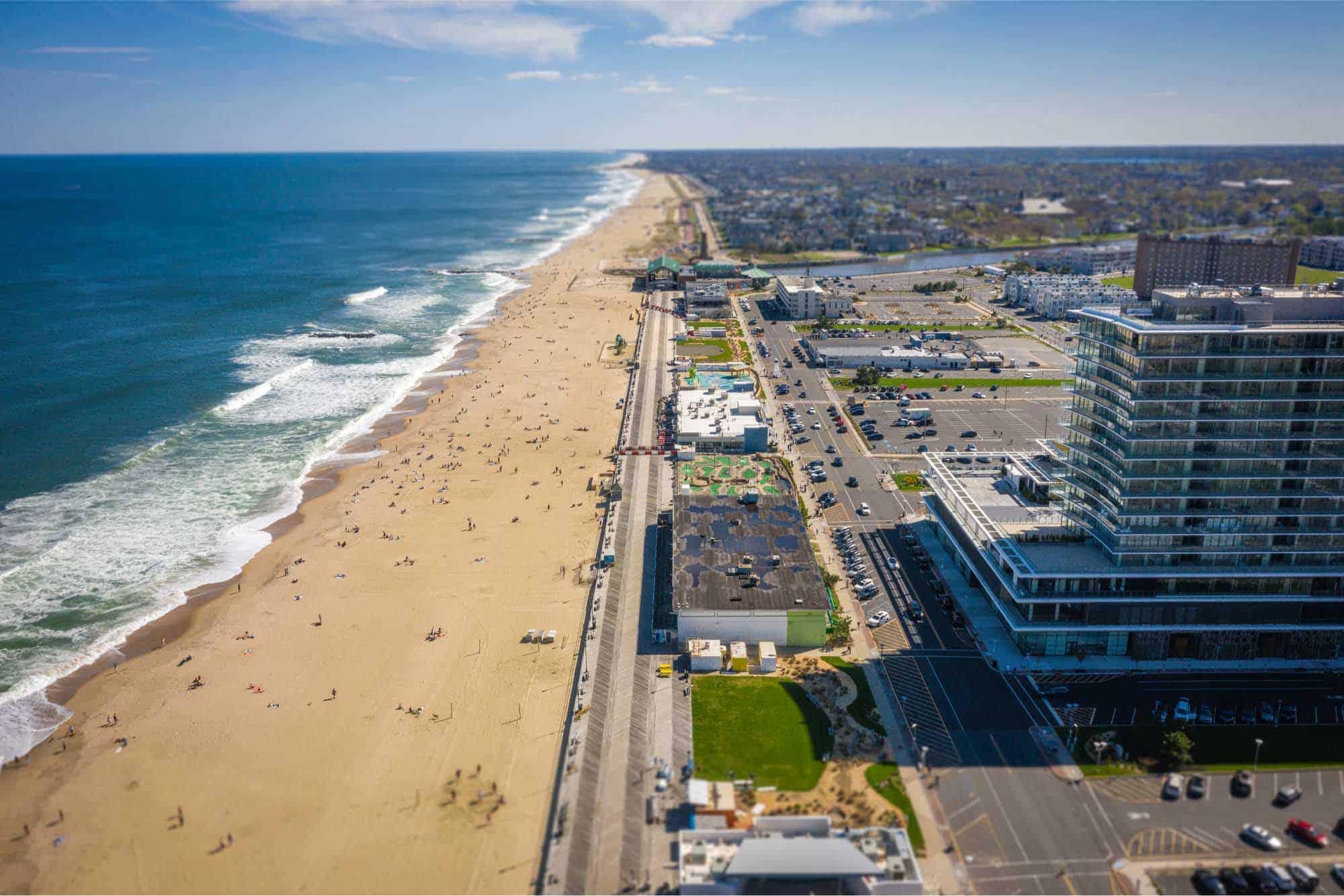 Aerial photo of Asbury Park beach