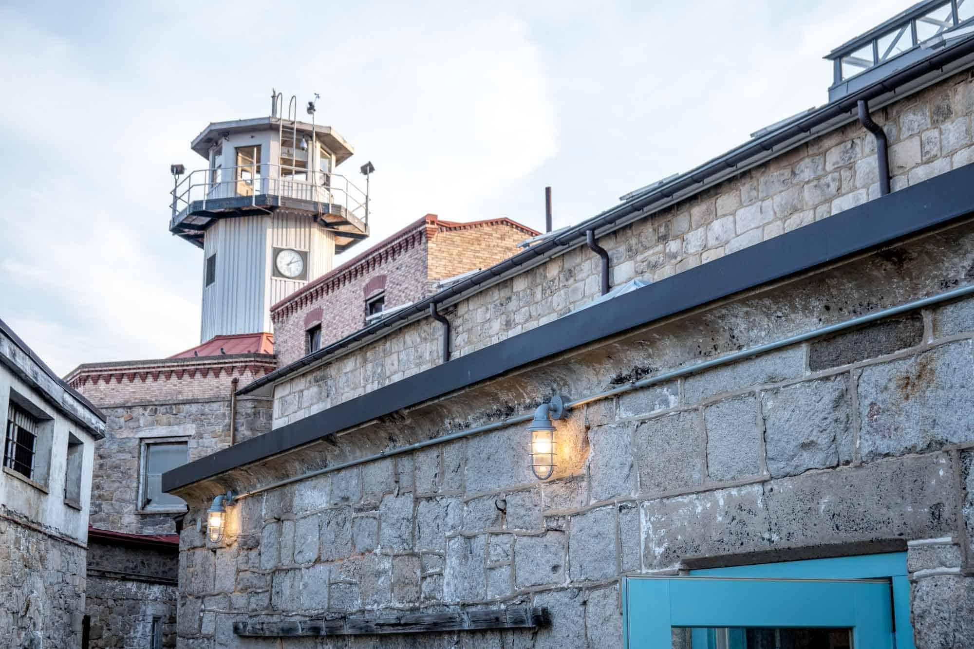 Guard tower over prison
