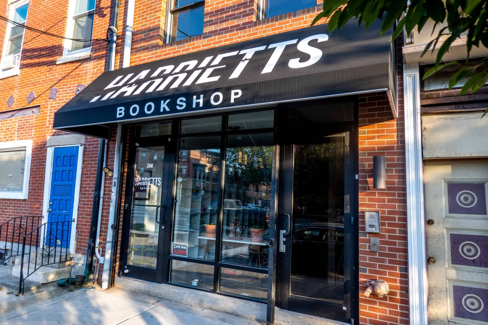 Exterior of Harriett's Bookstore
