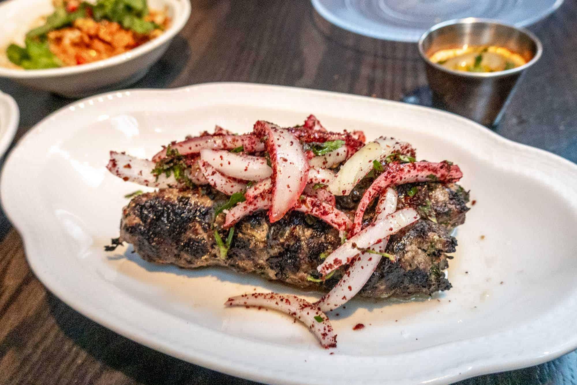 Kebab on plate