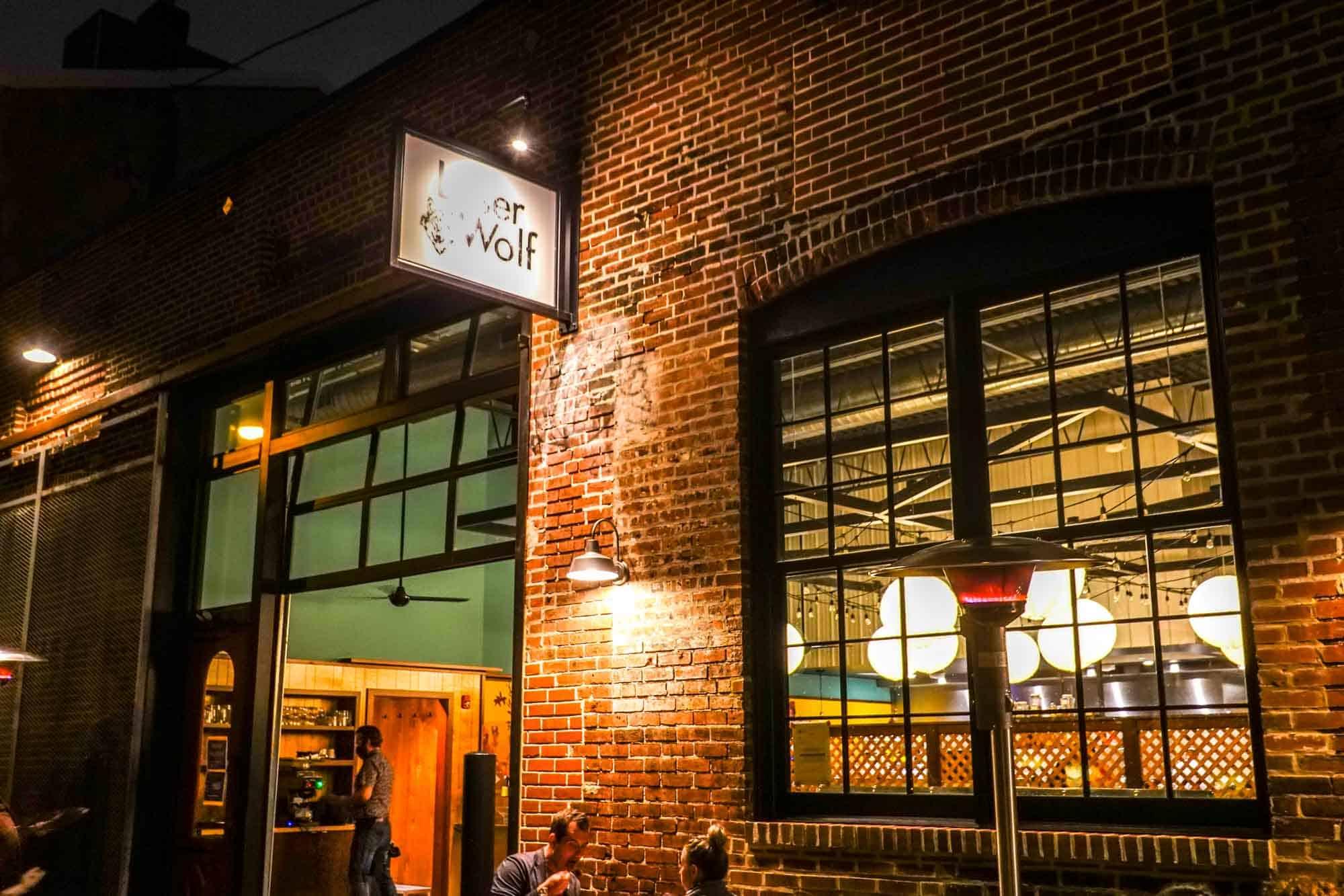 Exterior of Laser Wolf restaurant