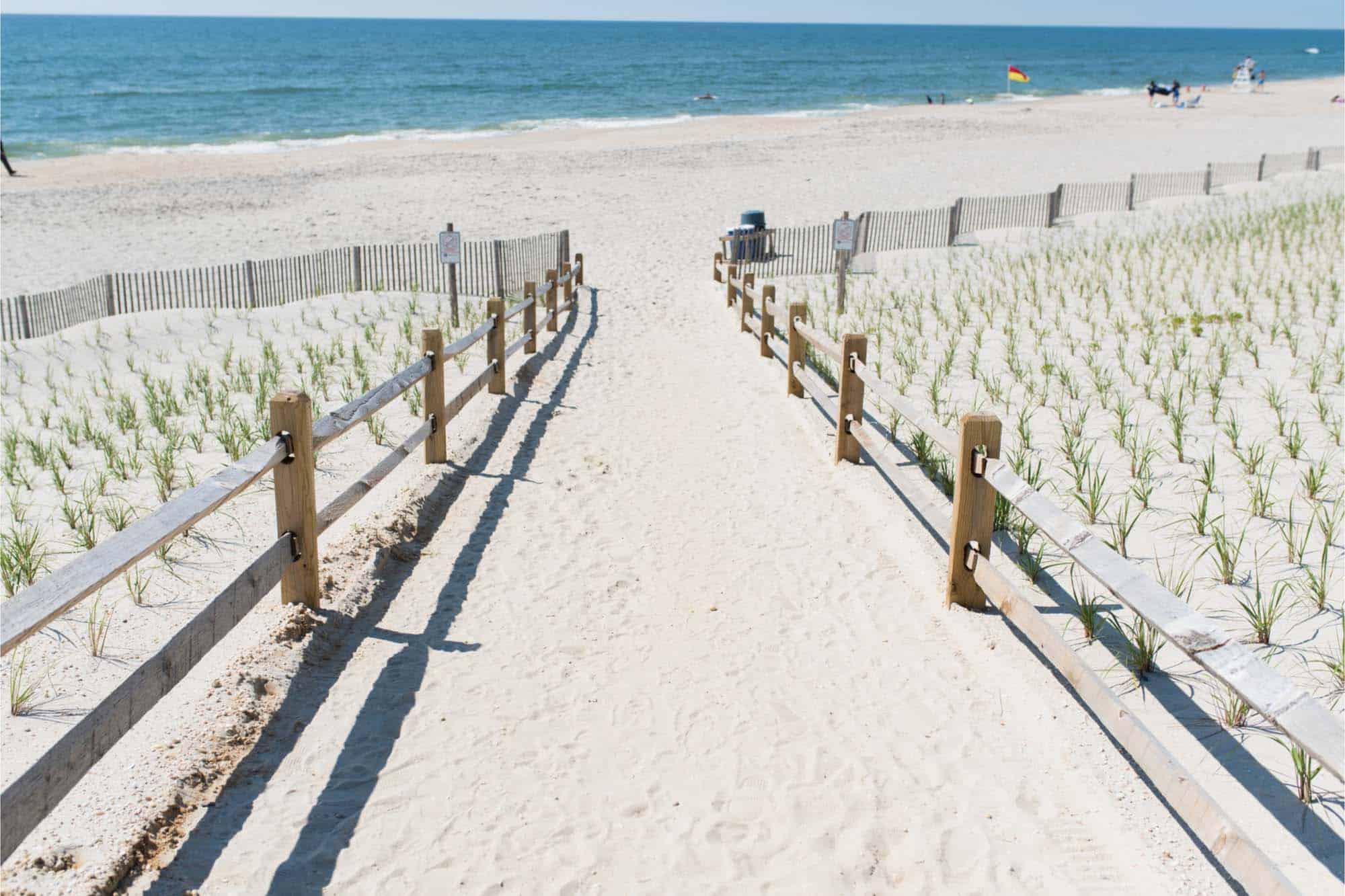 Sandy walkway leading to beach