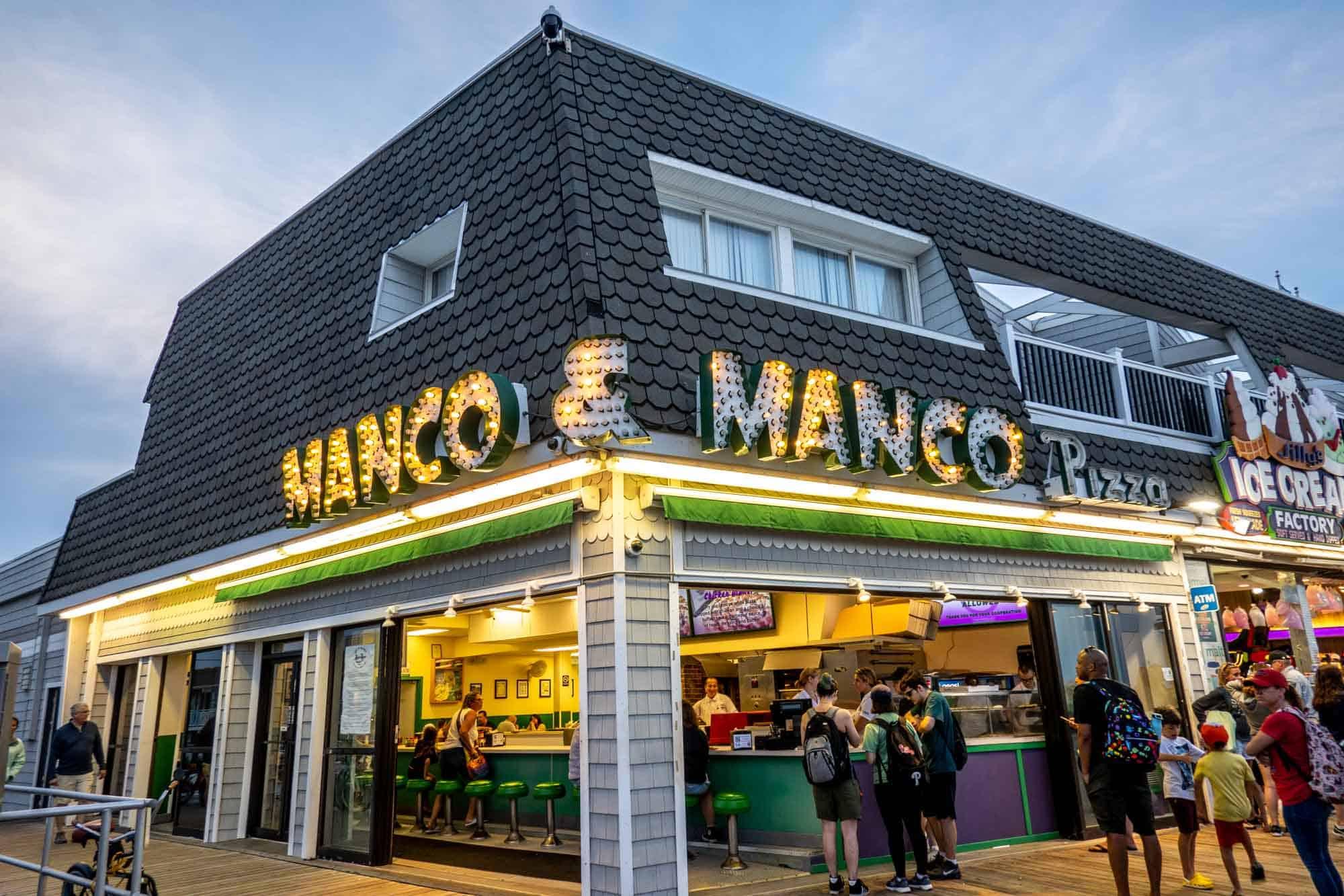 Exterior of Manco & Manco Pizza