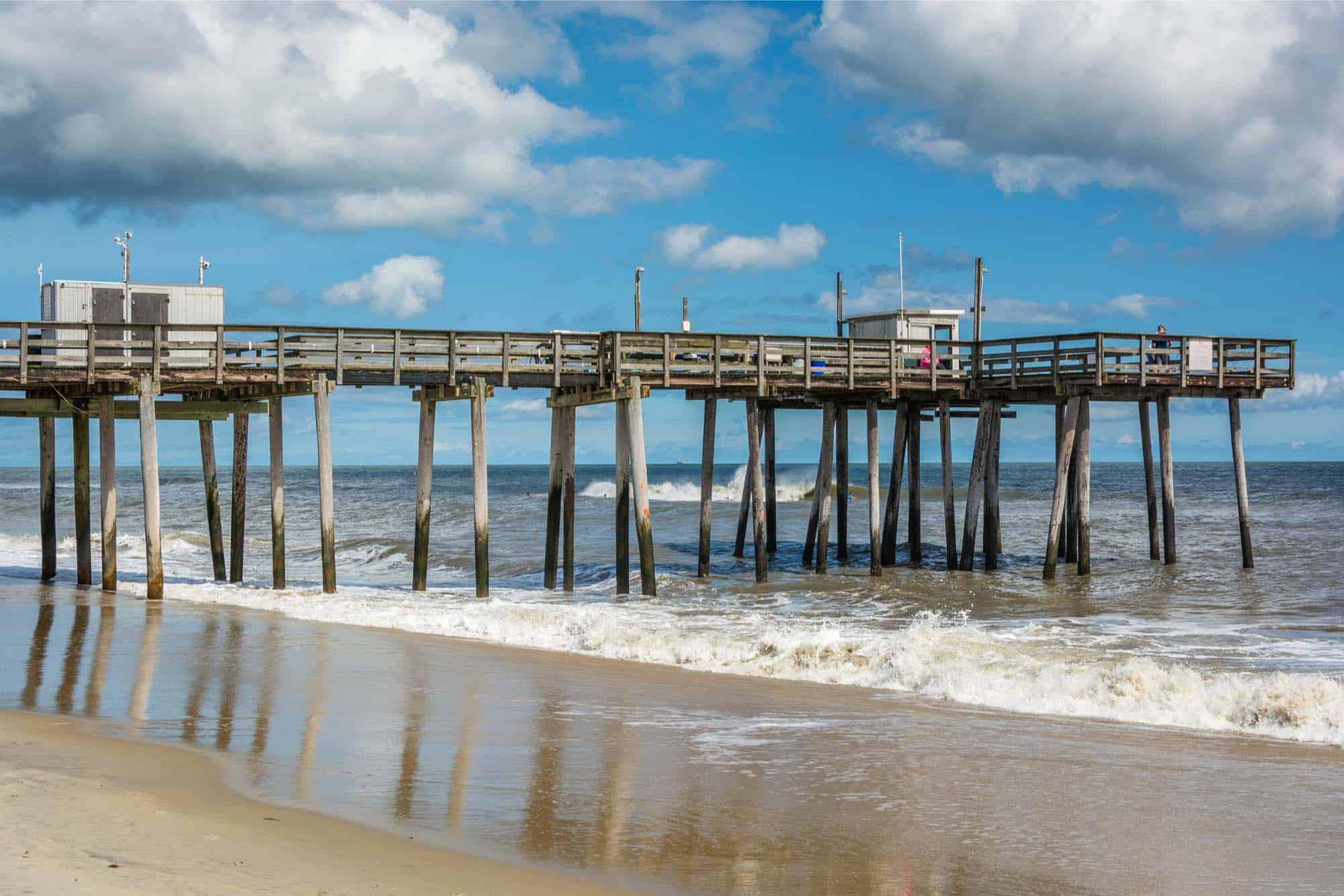 Small wooden pier over ocean