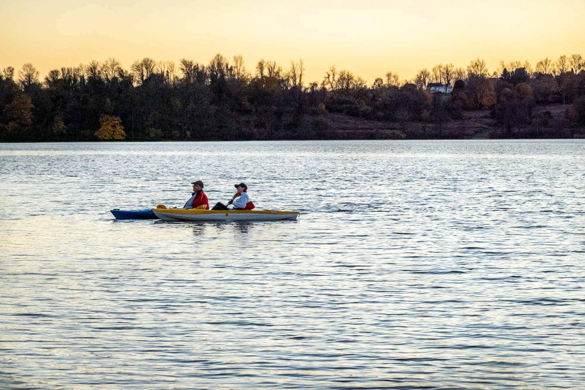 Kayakers on Marsh Creek Lake
