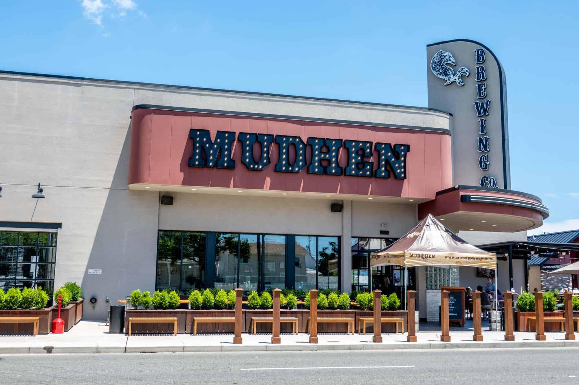 Exterior of MudHen Brewing Co in Wildwood NJ