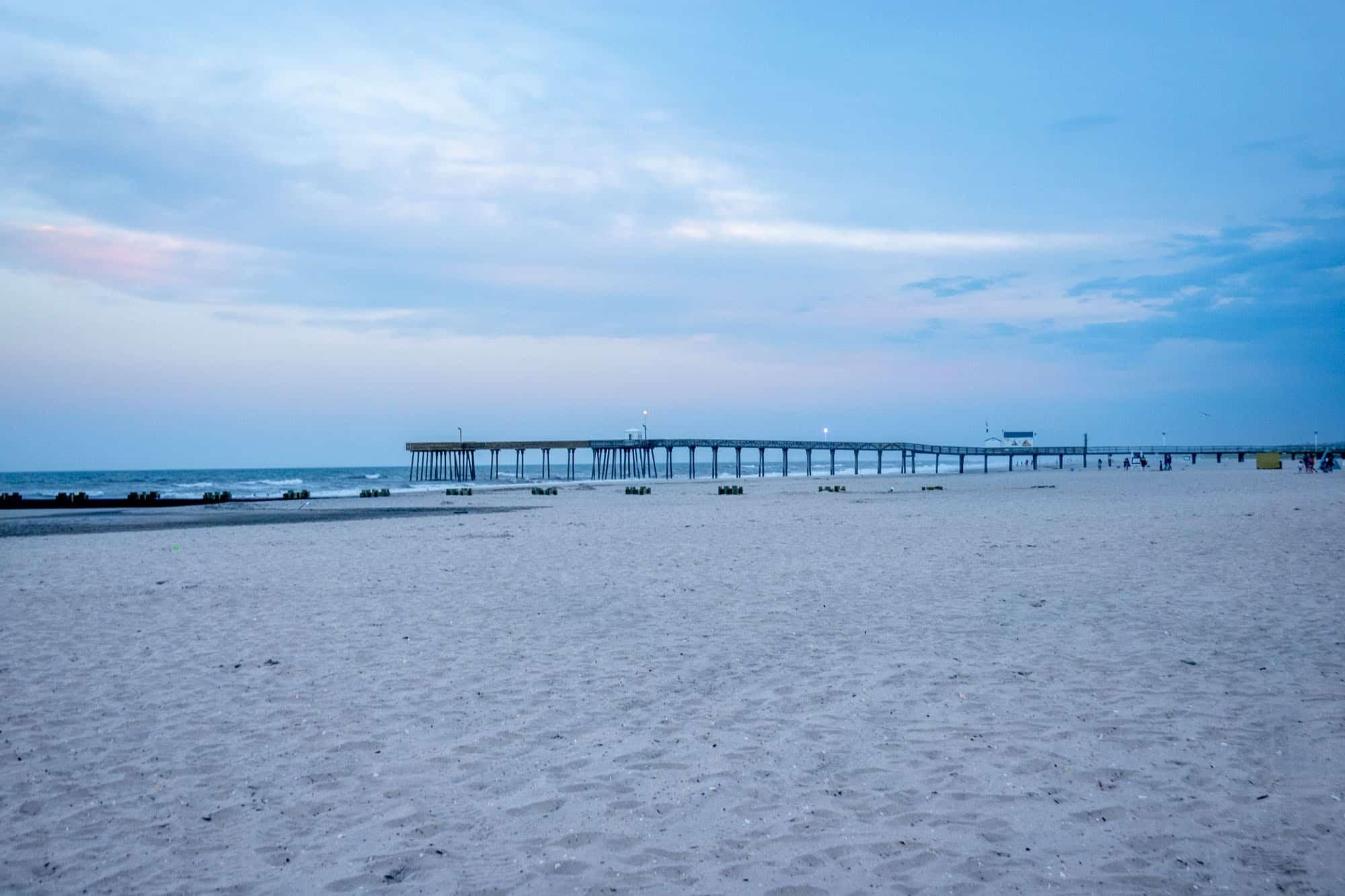 Beach and fishing pier