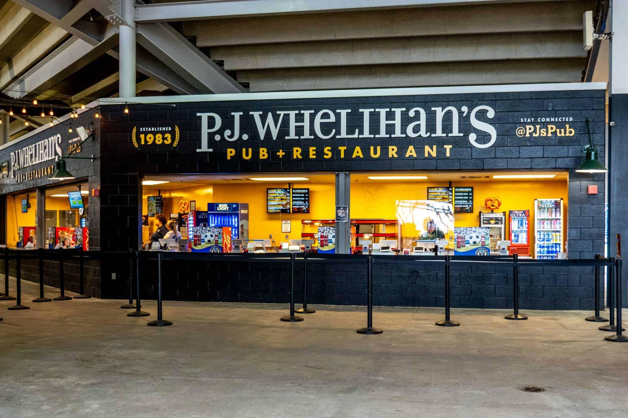 Stall for P.J. Whelihan's Pub + Restaurant