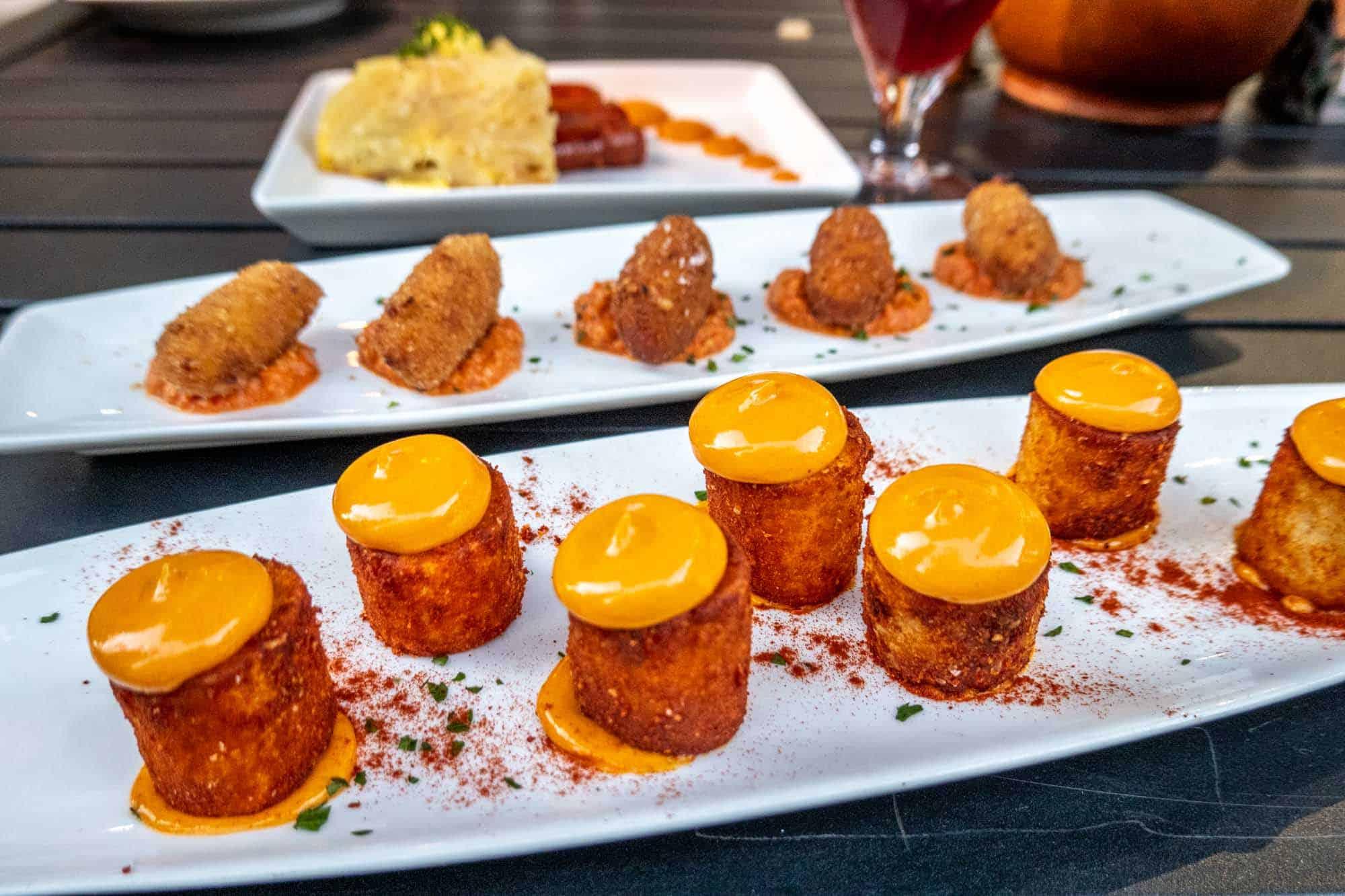 Marshmallow-shaped potatoes on plate