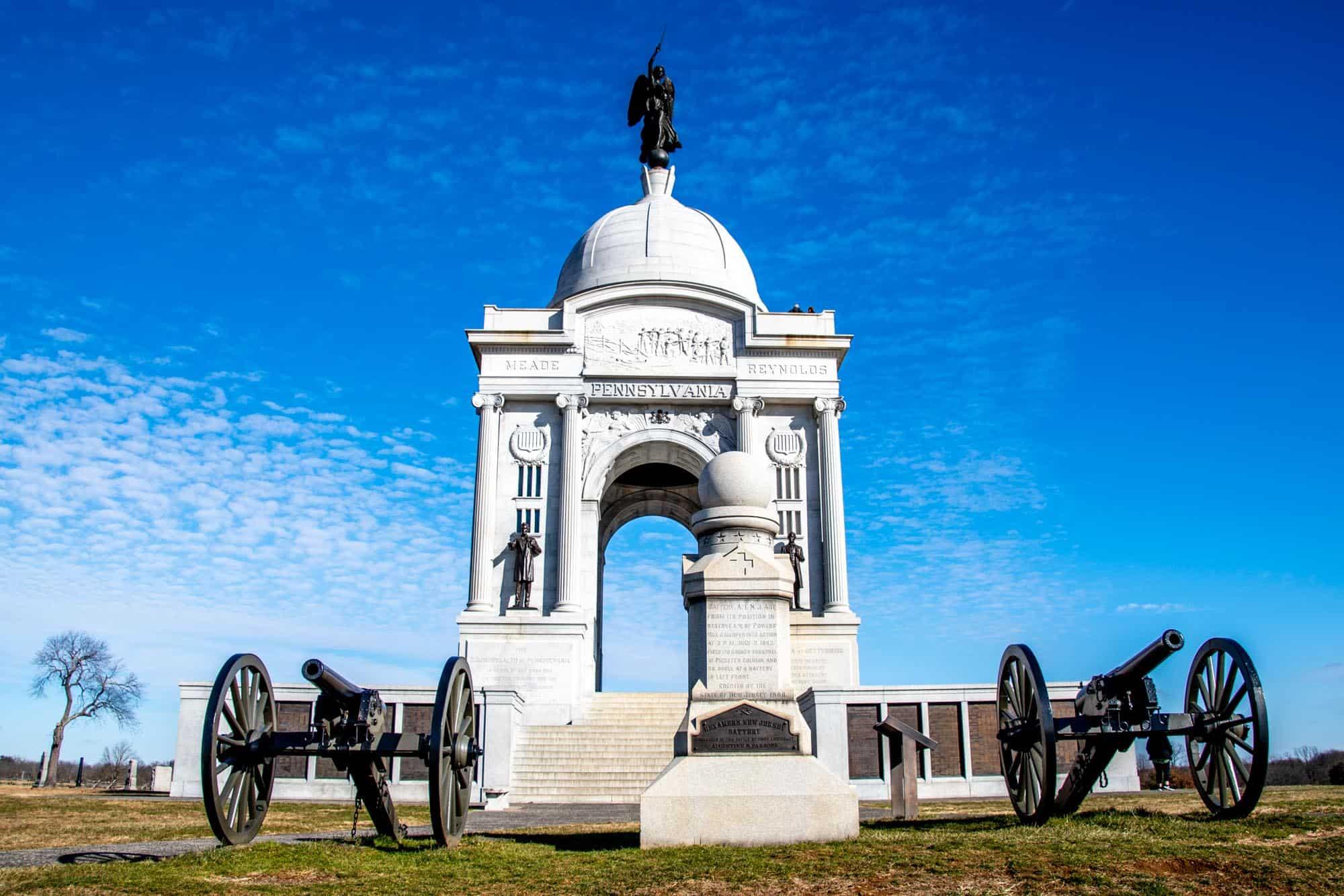 Stone memorial at Gettysburg