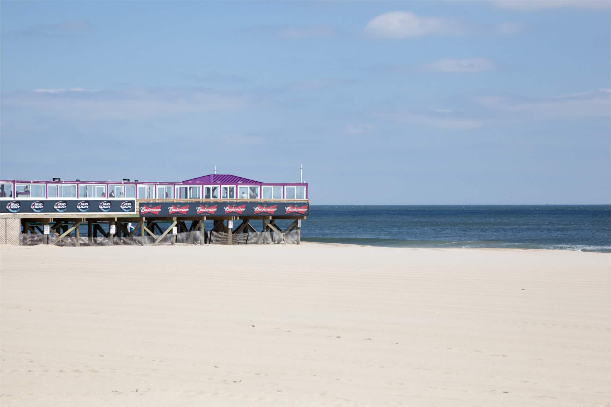 Pier over beach