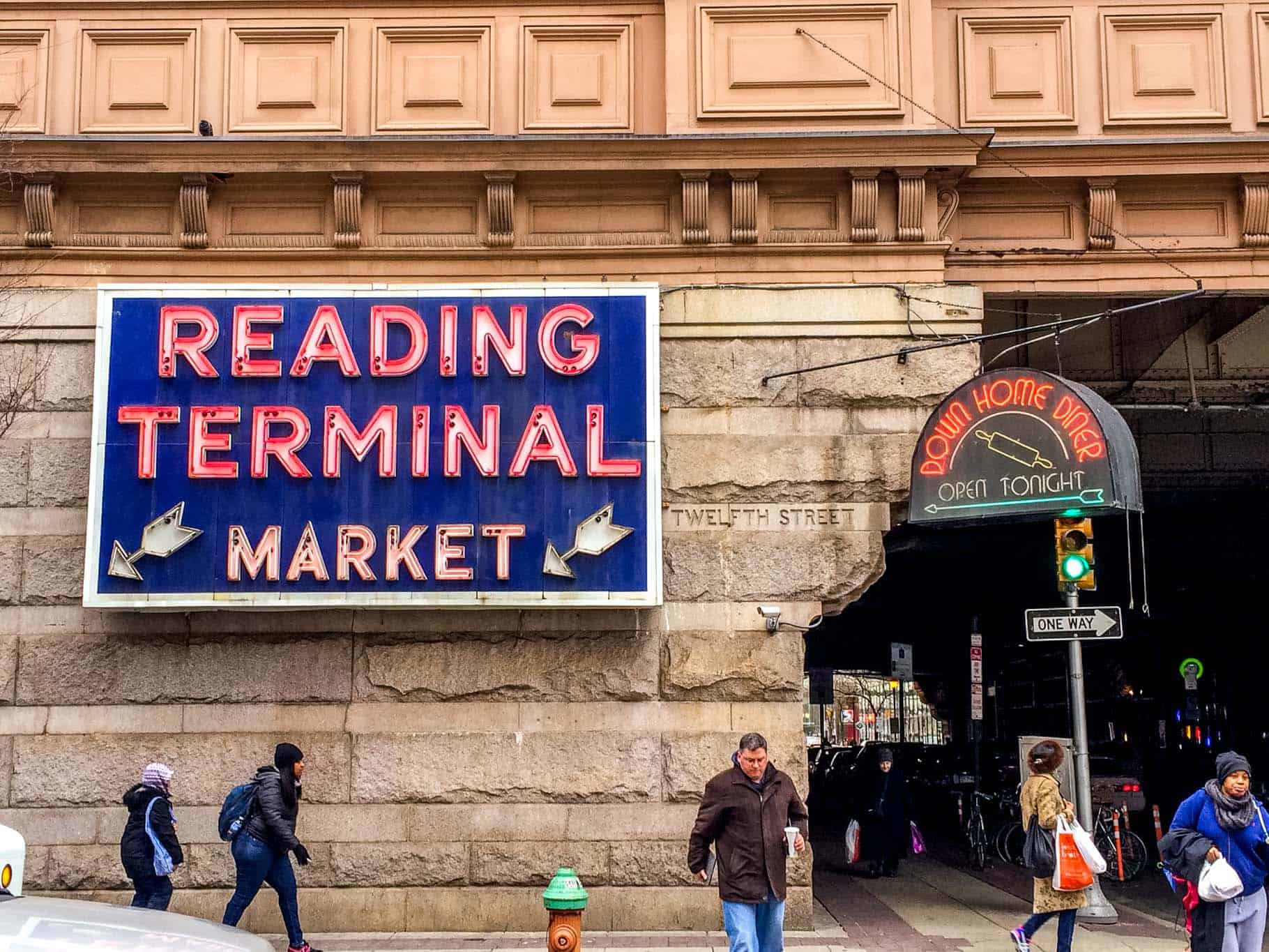 """Sign for """"Reading Terminal Market,"""" one of the top Philadelphia attractions"""