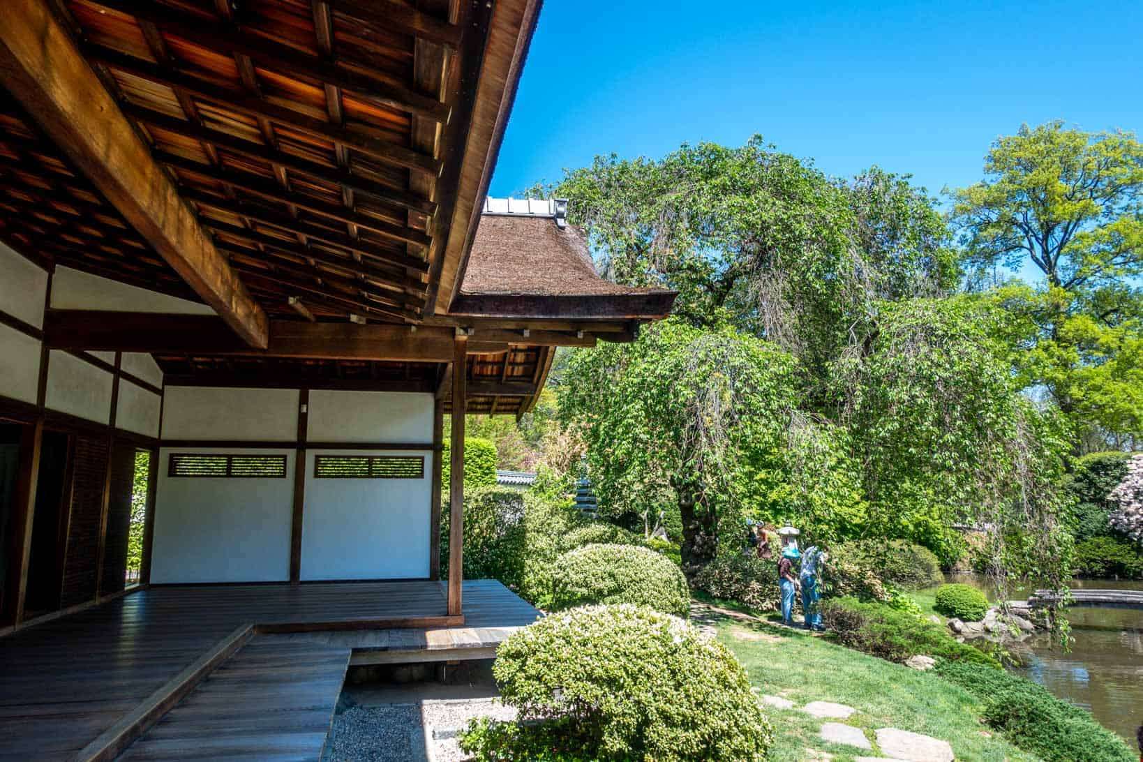 Side view of veranda on a Japanese house