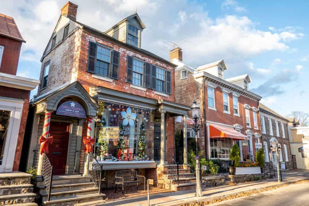 The shops in Doylestown PA.