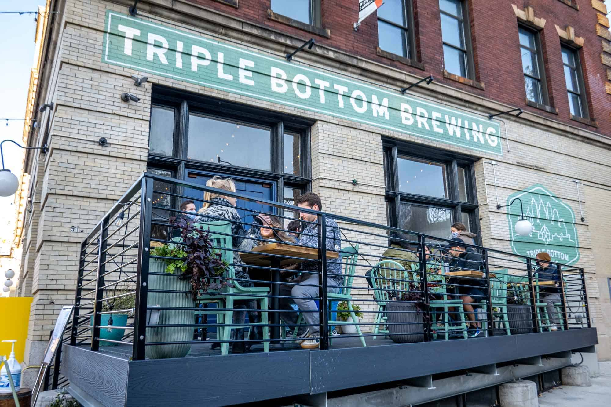 Exterior of Triple Bottom Brewing