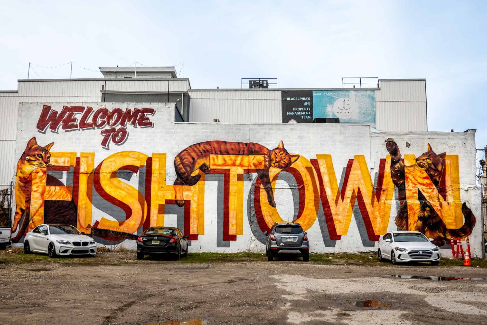 Mural saying Welcome to Fishtown
