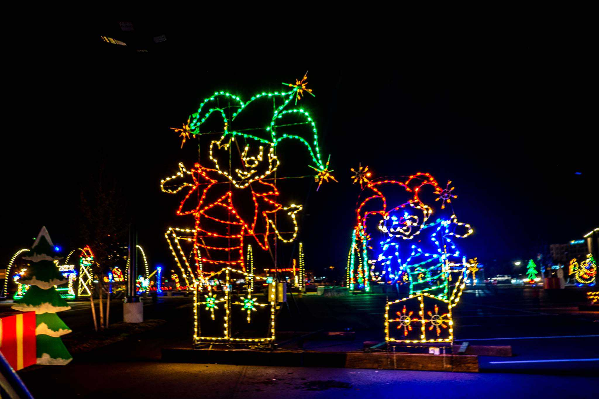 Jack-in-the-box light display